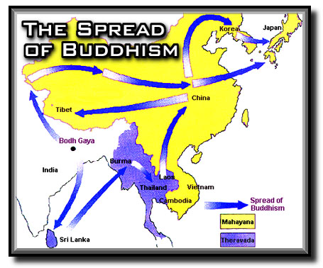 the history of the origins and spread of buddhism in the chinese society In short, the spread of buddhism is as follows: 2 it originated in the mid-north of india in the fourth century bce and spread to sri lanka in the late third century bce by missionary activities the first visit of buddhist monks to the imperial court in china is dated in the seventh decade ce, during the han dynasty, but it is only from the late.